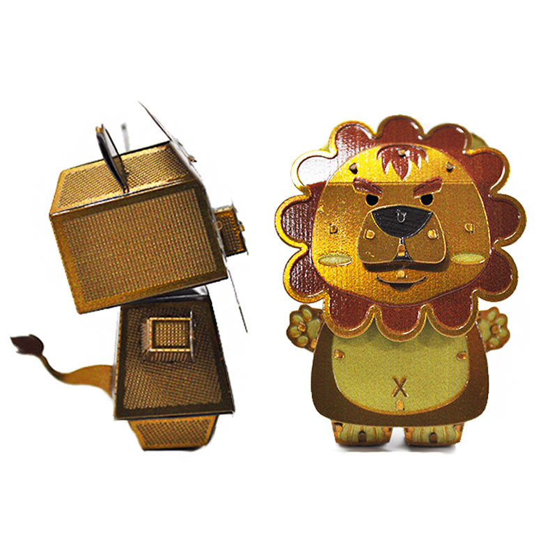 JLCC [3D컬러메탈퍼즐]사자(3D Color Metal Puzzle-Lion)